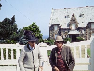 L.-P. Guigues avec Pierre Klossowski.